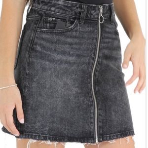Paige   Aideen Jean Skirt with O Ring   Black   27